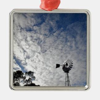 WINDMILL & CLOUDY  SKY QUEENSLAND AUSTRALIA METAL ORNAMENT