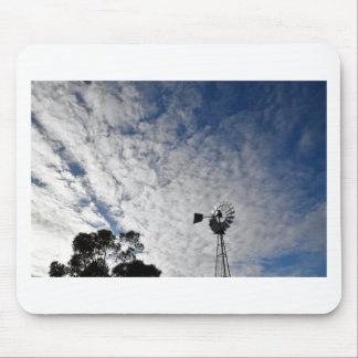 WINDMILL & CLOUDY  SKY QUEENSLAND AUSTRALIA MOUSE PAD