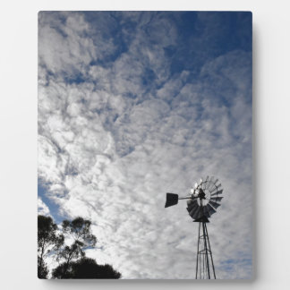 WINDMILL & CLOUDY  SKY QUEENSLAND AUSTRALIA PLAQUE