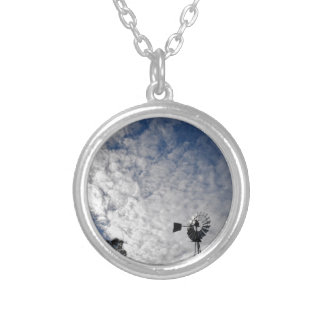 WINDMILL & CLOUDY  SKY QUEENSLAND AUSTRALIA SILVER PLATED NECKLACE