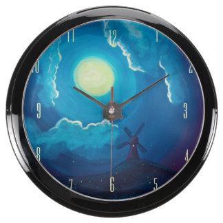 Windmill Fishbowl Clock Fish Tank Clock