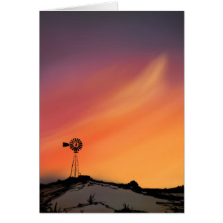 Windmill Greeting Card-Blank Card
