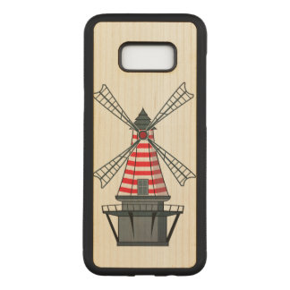 Windmill Illustration Carved Samsung Galaxy S8+ Case