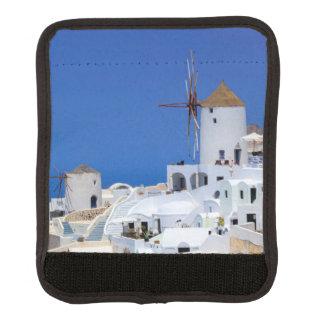 Windmill in Oia, Santorini, Greece Luggage Handle Wrap