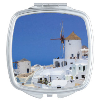 Windmill in Oia, Santorini, Greece Mirrors For Makeup