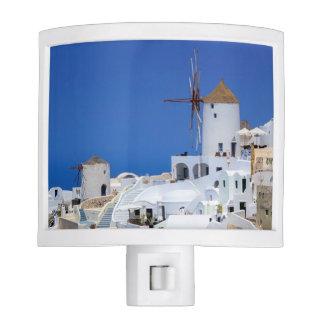 Windmill in Oia, Santorini, Greece Night Light