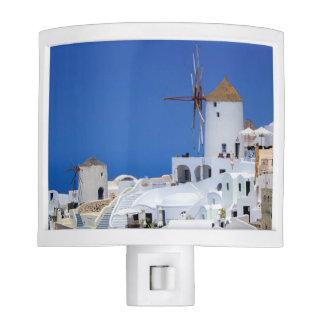 Windmill in Oia, Santorini, Greece Night Lights