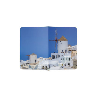 Windmill in Oia, Santorini, Greece Passport Holder