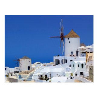 Windmill in Oia, Santorini, Greece Postcard