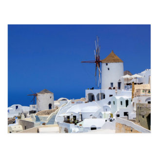 Windmill in Oia, Santorini, Greece Postcard