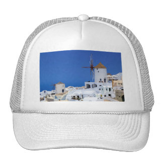 Windmill in Oia, Santorini, Greece Trucker Hat