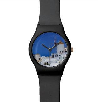 Windmill in Oia, Santorini, Greece Wristwatch