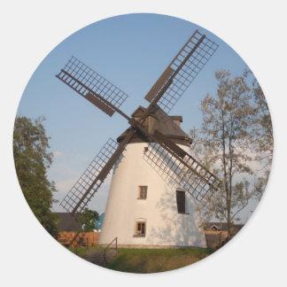 Windmill In Podersdorf Round Sticker