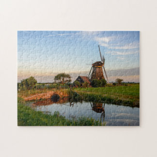 Windmill in the countryside in Holland jigsaw Puzzles