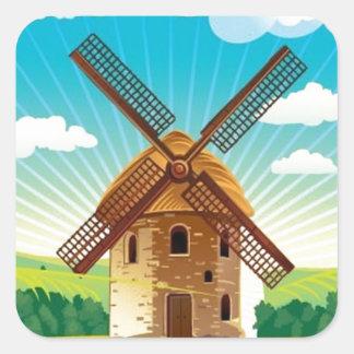 Windmill landscape sticker