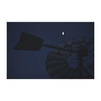 WINDMILL &  MOON QUEENSLAND AUSTRALIA CANVAS PRINT