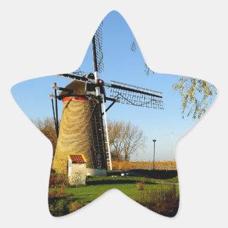 windmill Netherland Landscape Star Sticker