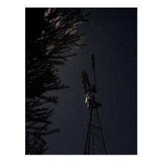 WINDMILL NIGHT SKY QUEENSLAND AUSTRALIA POSTCARD