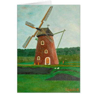 Windmill Note Card