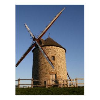 Windmill of Moidrey, Normandy, France Postcard