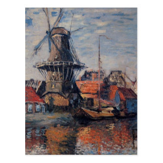 Windmill on the Onbekende Canal, Amsterdam Postcard