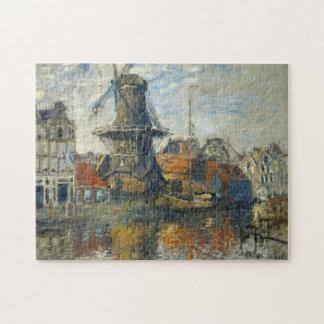 Windmill, Onbekende Gracht Amsterdam Monet Fine Jigsaw Puzzle
