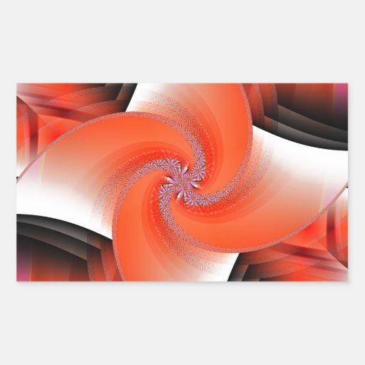 Windmill orange designed by Tutti Rectangular Stickers
