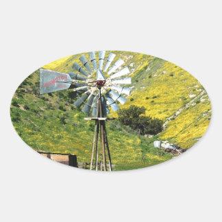 Windmill Oval Sticker