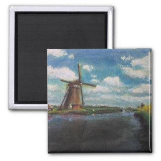 Windmill Painting Fridge Magnet
