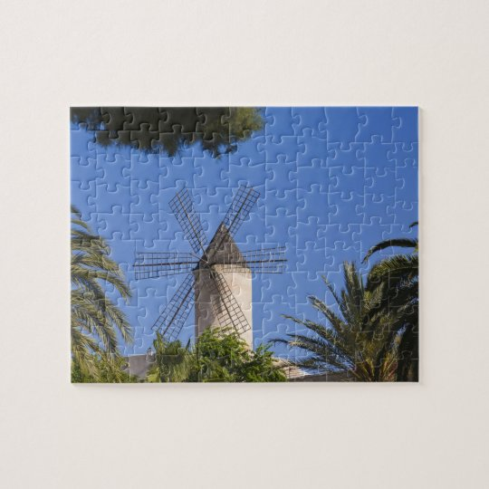 Windmill, Palma, Mallorca, Spain Jigsaw Puzzle