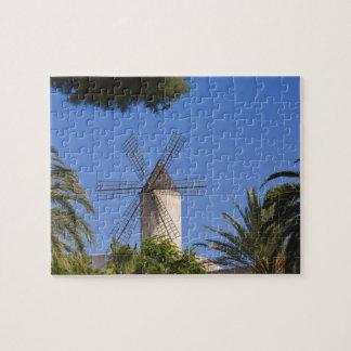 Windmill, Palma, Mallorca, Spain Puzzle