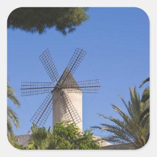 Windmill, Palma, Mallorca, Spain Square Sticker