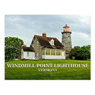 Windmill Point Lighthouse, Vermont Postcard