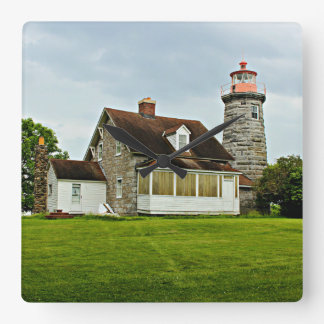 Windmill Point Lighthouse, Vermont Wall Clock