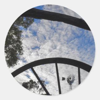 WINDMILL QUEENSLAND AUSTRALIA CLASSIC ROUND STICKER