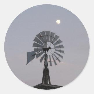 Windmill Round Sticker