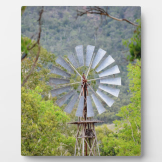 WINDMILL RURAL QUEENSLAND AUSTRALIA PLAQUE