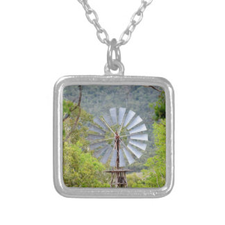 WINDMILL RURAL QUEENSLAND AUSTRALIA SILVER PLATED NECKLACE