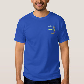 Windmill Scene Embroidered T-Shirt