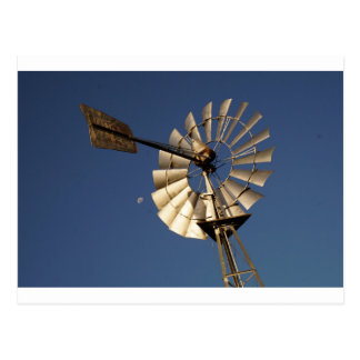 WINDMILL SOUTHERN CROSS & MOON RURAL AUSTRALIA POSTCARD