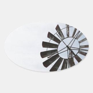 Windmill Oval Stickers