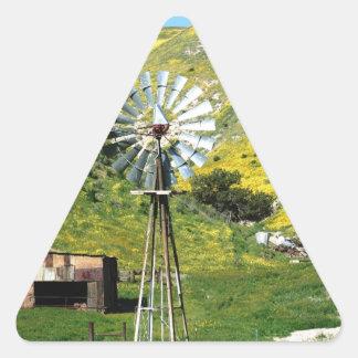Windmill Triangle Sticker