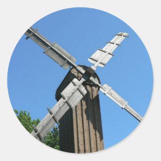Windmill Round Stickers