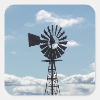 Windmill Square Stickers
