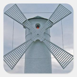 Windmill Square Sticker