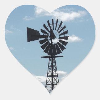 Windmill Heart Stickers