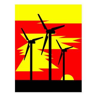 Windmill Sunrise Postcard