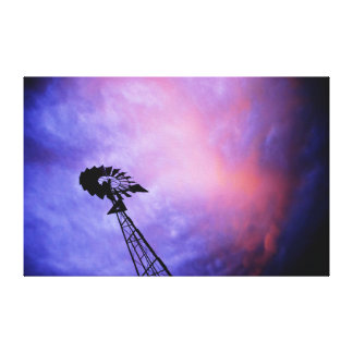 WINDMILL & SUNSET AUSTRALIA ART EFFECTS CANVAS PRINT