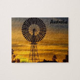 Windmill Sunset jigsaw puzzle