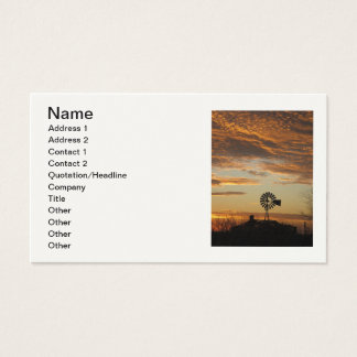 Windmill sunset portrait card